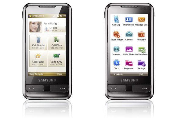 Samsung Omnia - Interfata TouchWIZ