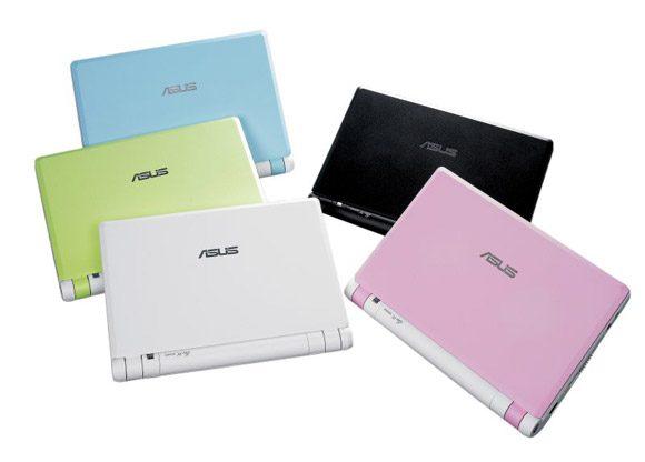 Asus Eee PC considerat de multi o jucarie vine in mai multe culori ale carcasei