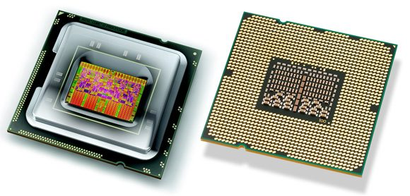 Intel Core i7 - vedere fata verso a procesorului