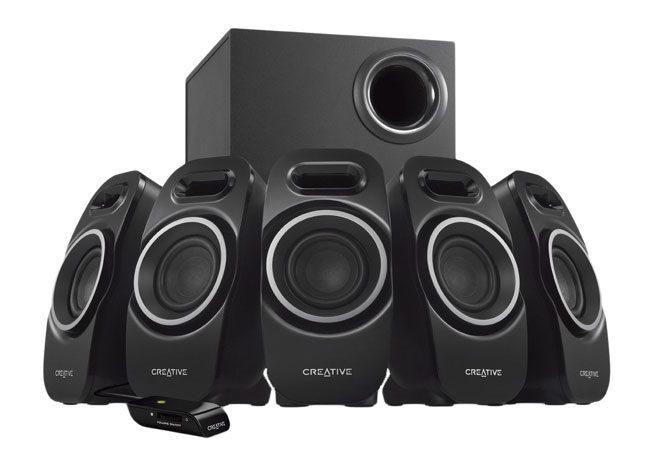 Creative mizeaza pe un design inedit al boxelor in cadrul acestui sistem audio 5.1