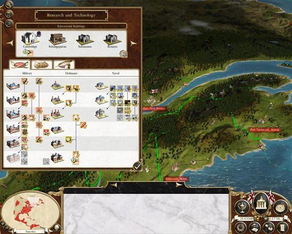 empire total war dezvoltare tehnologica