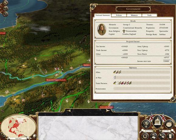 empire total war setari guvern