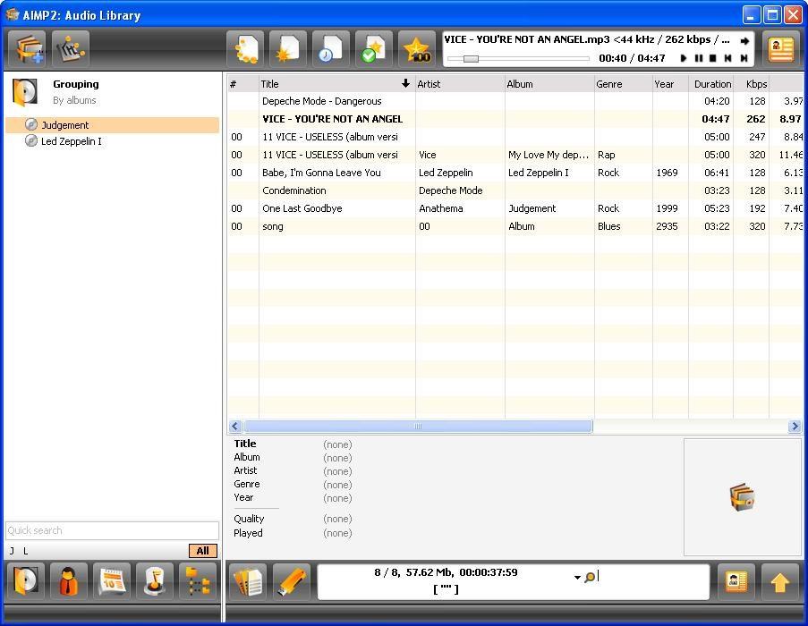 Asa arata Audio Library in AIMP
