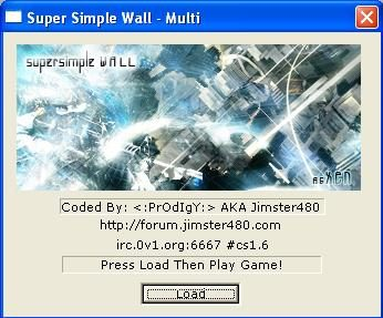 Super Simple Wall v4.3 – interfata – apesi Load inainte sa pornesti Counter Strike