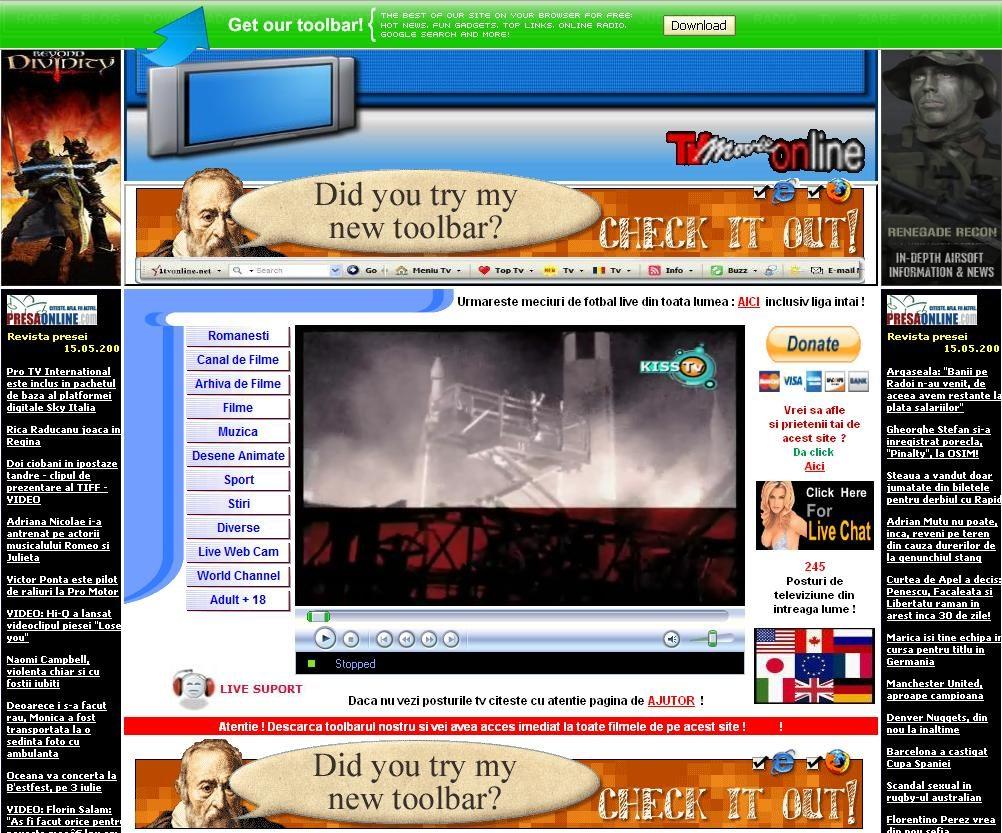 Site-ul webdesign nu promitea mare lucru inainte sa descarc toolbar-ul.