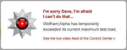 Wolfram se afla inca in stadiu incipient, ca intelect si capacitate de procesare