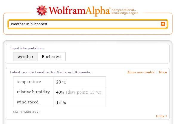 "Rezultatele cautarii ""weather in bucharest"""