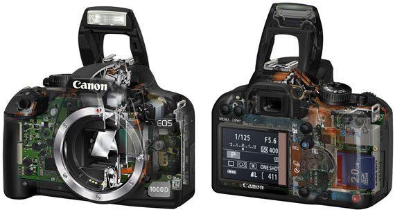 Numai inginerii Canon stiu ce-au pus in carcasa lui EOS 1000D