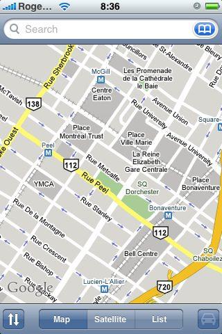 Google Maps pe iPhone (sursa Flickr)