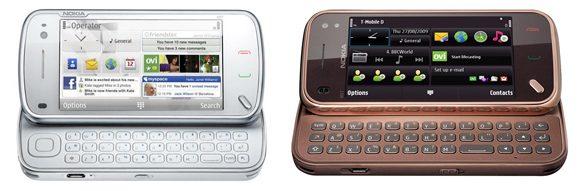 Nokia N97 (stanga)  vs N97 Mini (dreapta)
