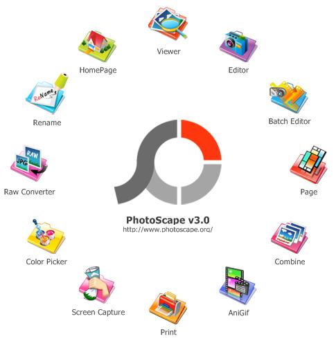 Principalele optiuni Photoscape