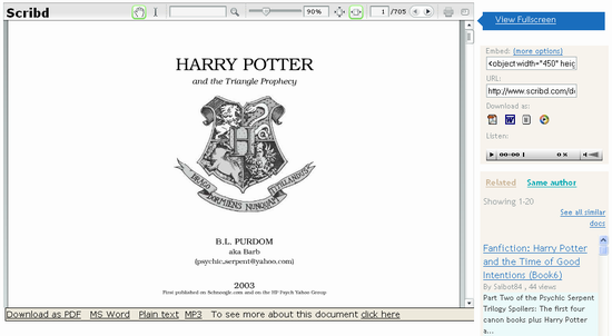 Harry Potter de citit online