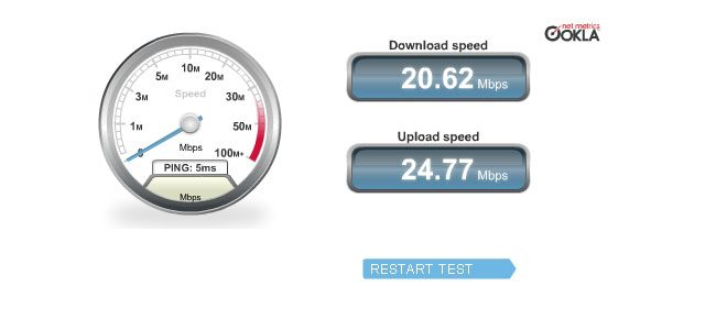 Test viteza internet la UPC
