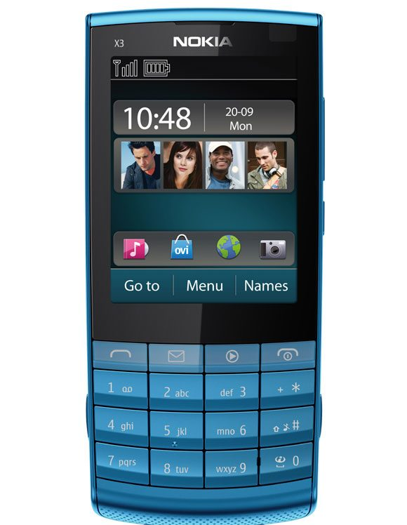 Nokia X3-02 Touch and Type: si tastatura si touch