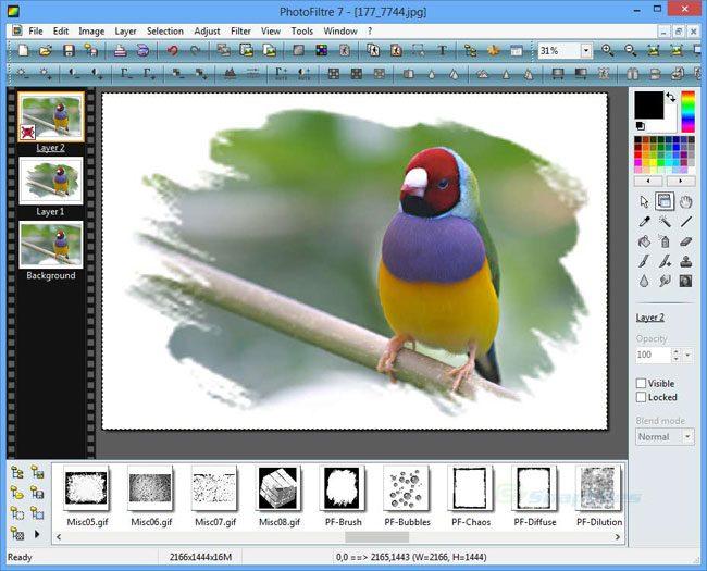 PhotoFiltre, util pentru efecte artistice