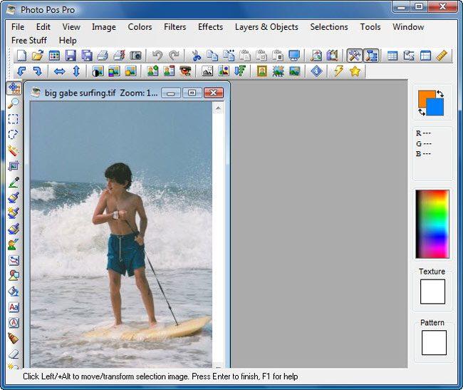 Photo Pos Pro pune accentul pe efecte