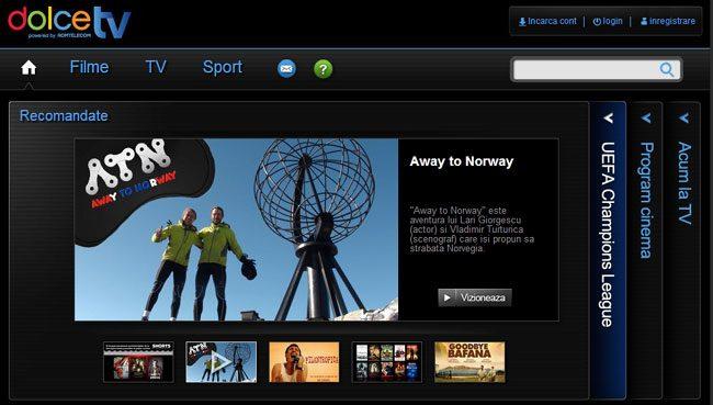 Dolce TV are o oferta destul de variata, dar este disponibil numai pentru clientii Romtelecom