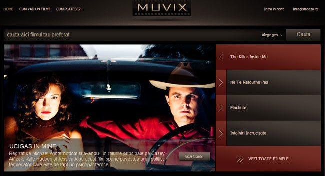 Muvix a fost primul serviciu legal de filme online, dar intre timp a fost cumparat de Dolce