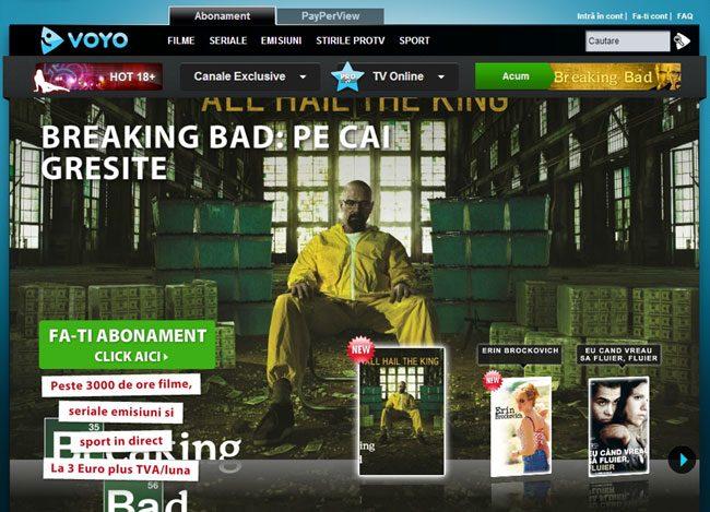 Voyo este serviciul cel mai bine dezvoltat pe acest segment: are multe filme si seriale