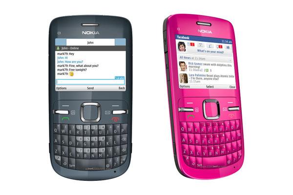 Nokia C3 - telefon multimedia cu tastatura QWERTY