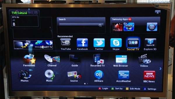Parte din aplicatiile disponibile pe Samsung-urile Smart TV