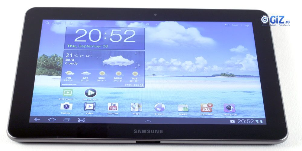Galaxz Tab-ul rulează Android 3.1, cu interfaţă TouchWiz UI 4