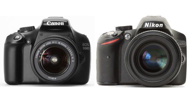 Canon 1100D si Nikon D3200, cele mai ieftine DSLR-uri