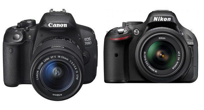 Canon 700D si Nikon 5200D, nivelul superior al DSLR-urilor