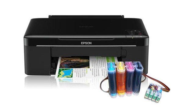 Vechiul tip de imprimante CISS, cu sisteme externe, adaptate