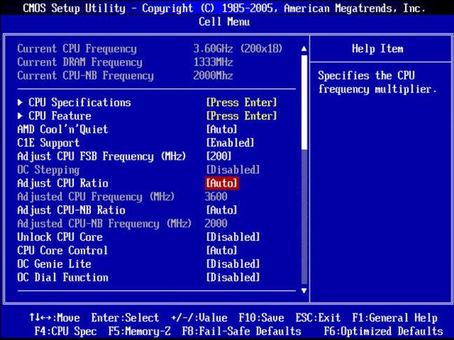 биос не имеет разгона процессора как можно его разогнать