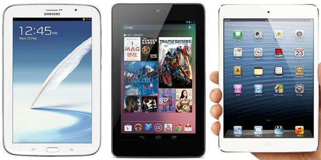 Cele trei tablete sunt apropiate in privinta ecranului