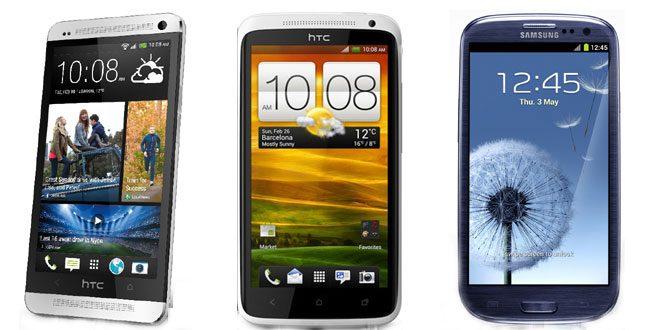 HTC One vs Samsung Galaxy S3 vs HTC One X