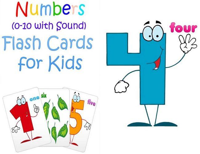 0-10 Numbers Baby Flash Cards il invata pe copilul tau sa numere pana la 10