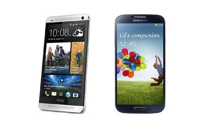 HTC One si Samsung Galaxy S4, cei mai de seama reprezenti pentru ecrane LCD si AMOLED
