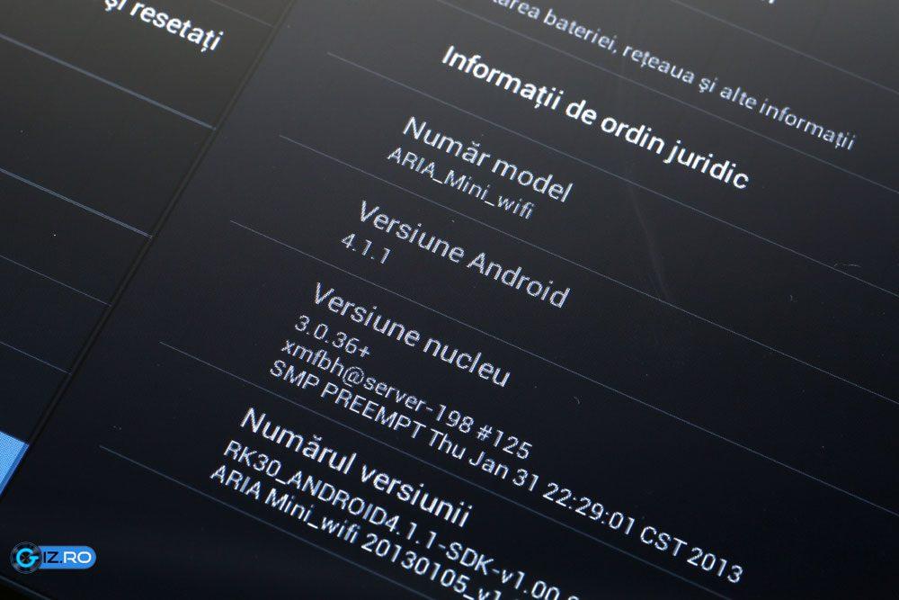 Evolio Aria Mini vine din fabrica cu Android 4.1.1