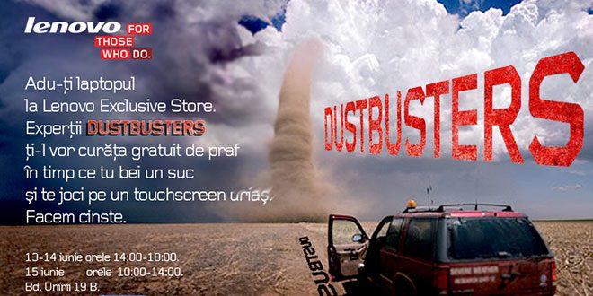 Lenovo DustBusters – curățare gratuită pentru laptop