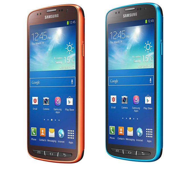 Samsung Galaxy S4 Active Dive Blue  și Orange Flare