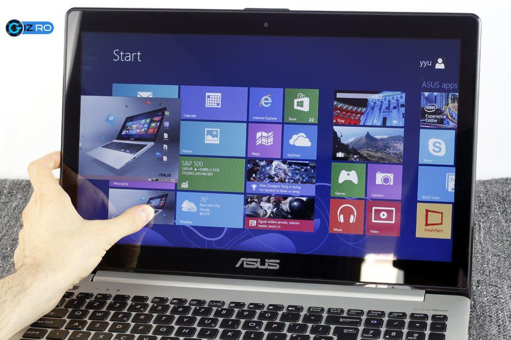 Touchscreenul de pe S551 este intuitiv si usor de folosit