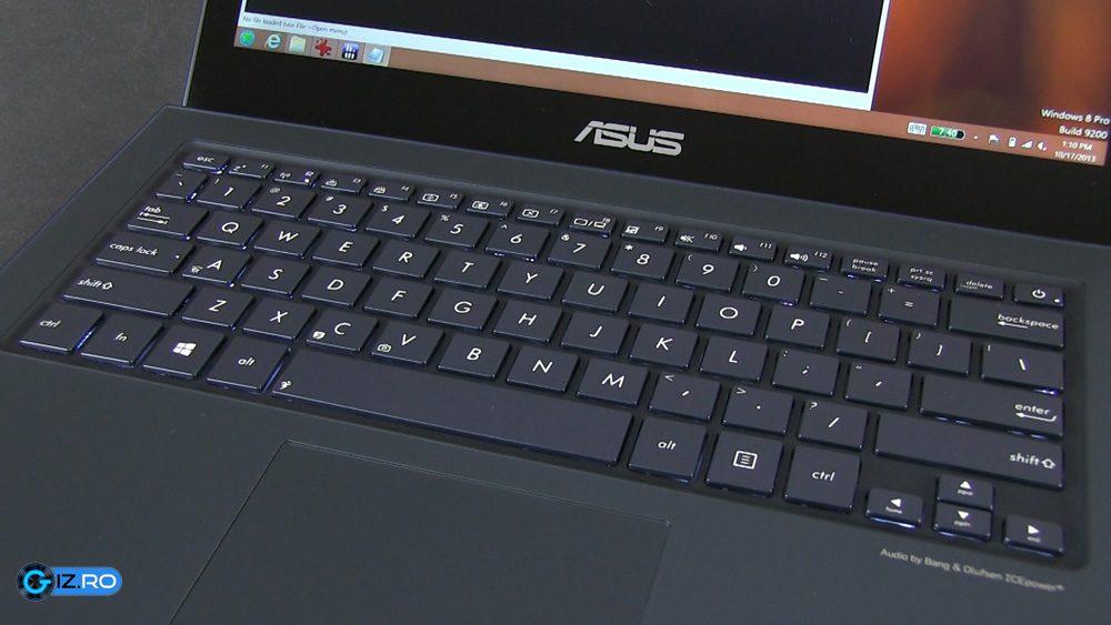 Tastatura lui UX301LA reprezinta o imbunatatire semnificativa comparativ cu alte modele Zenbook