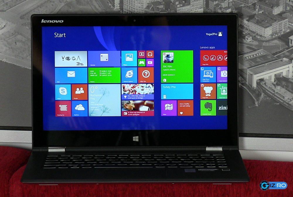 Rezolutia mare a ecranului nu este tocmai potrivita pentru Windows 8