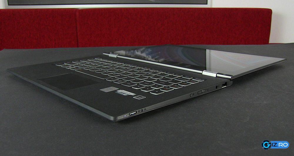 Yoga 2 Pro poate fi folosit ca laptop cu ecranul rabatat la 180 de grade