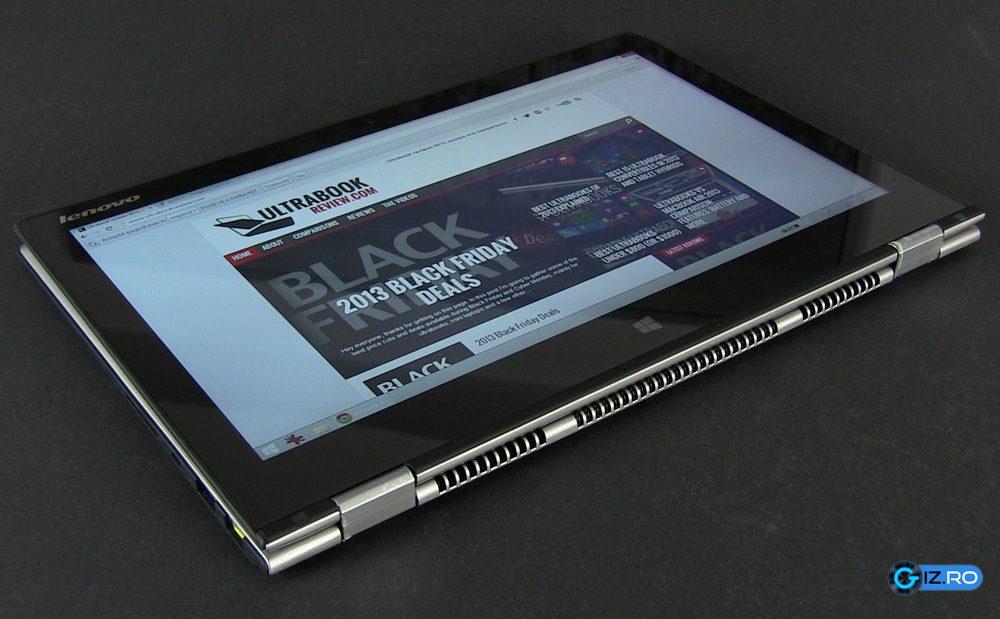 "Yoga 2 Pro devine o tableta inedita de 13.3"" cand rabatezi ecranul"