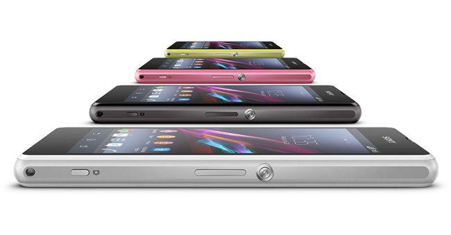 Vazut din lateral, Z1 Compact pare un telefon destul de gros