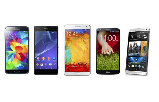 Cinci smartphone-uri de top lupta pentru suprematie