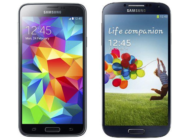Doar gradul de rotunjire al colturilor tradeaza diferentele frontale dintre Galaxy S5 si S4