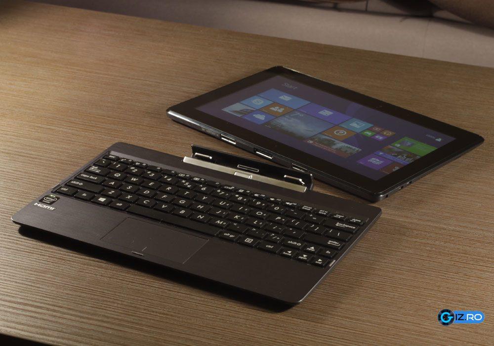 T100TA este cel mai ieftin dispozitiv care poate fi utilizat ca laptop si tableta