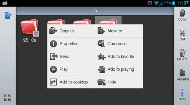 ES File Explorer, util pentru gestionarea fisierelor