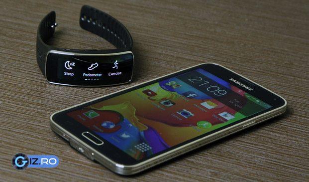 Gear Fit, unul dintre acceosriile compatibile oficial doar cu Samsung-urile Galaxy