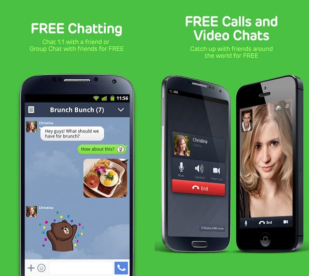Line este o alta aplicatie populara de mesagerie
