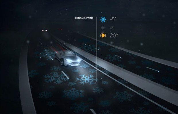 Vopseaua va permite informarea soferilor despre temperatura asfaltului